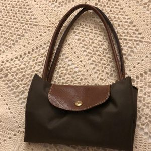 Forest green longchamp bag